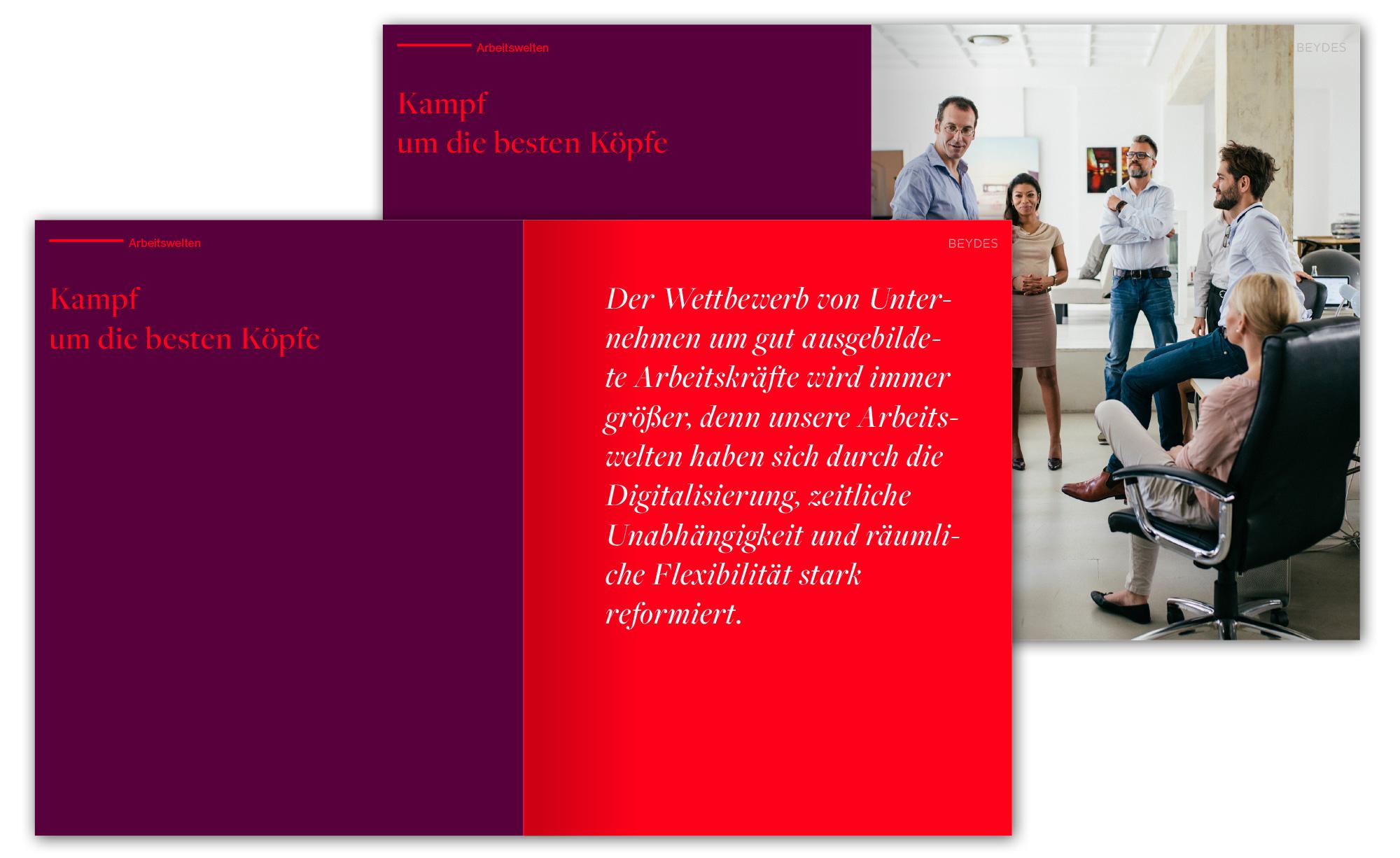 Naming und Logogestaltung für Konzeptidee Beydes; Corporate Identity und Markenentwicklung, Broschüre und Website