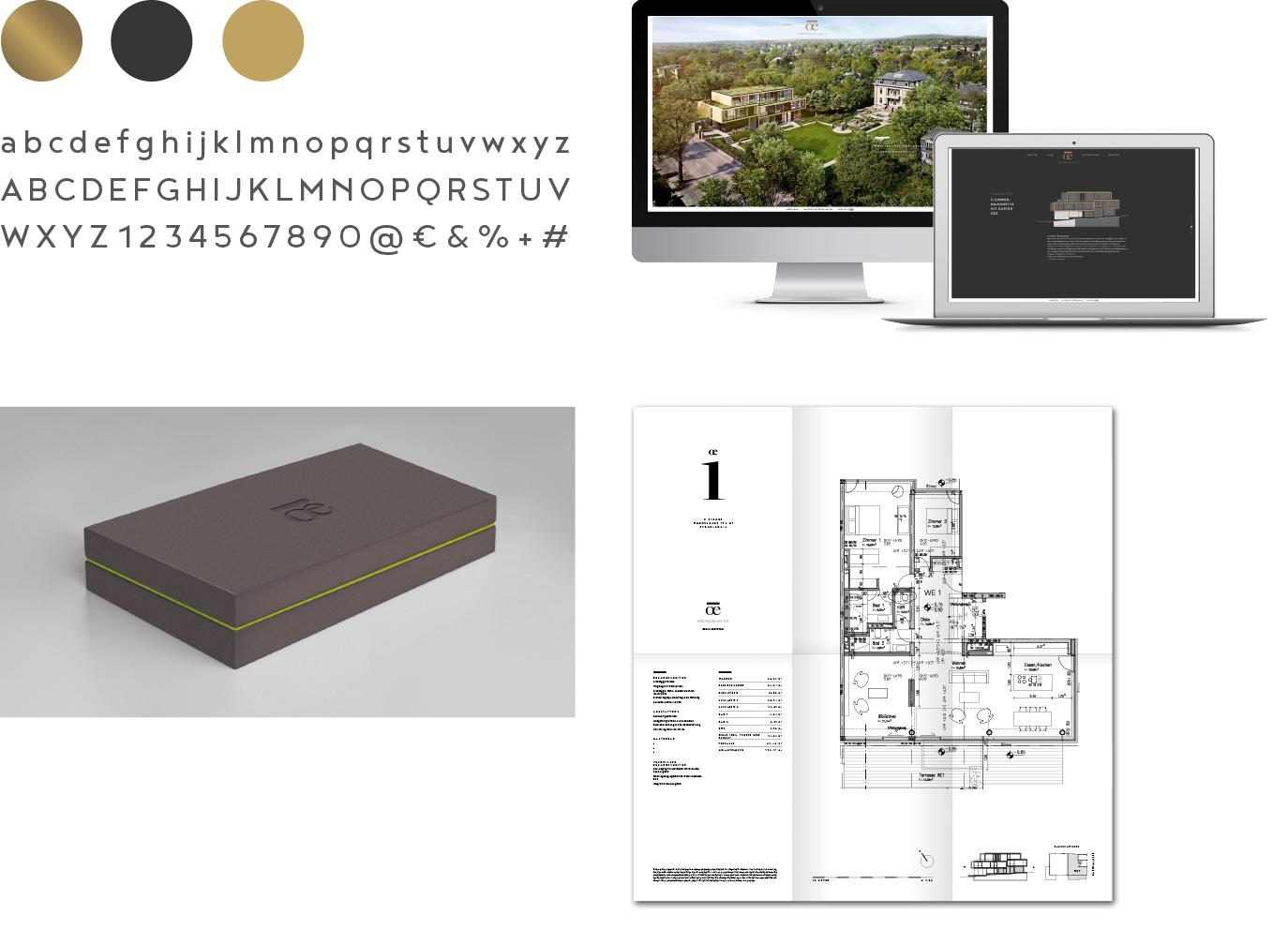 Designelemente für das Immobilien-Branding OE in Berlin
